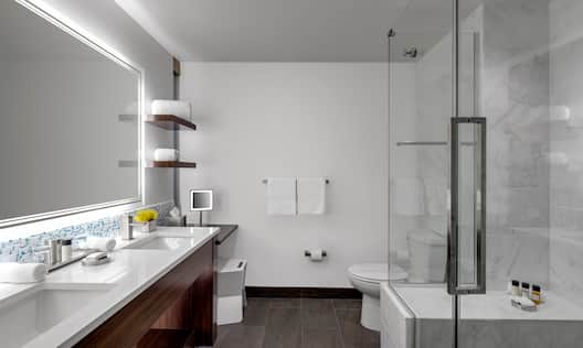 King Bathroom with Shower