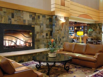 Lobby Seating with Fireplace