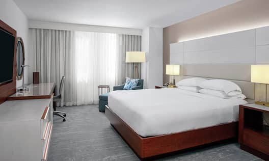 a bed in a guest room