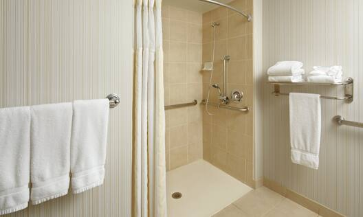 Accessible Guest Bath with Roll-In Shower