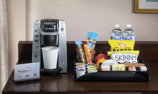 Premium Room Snacks and Coffee