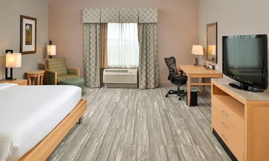 Accessible Room with Large Bed Desk and HDTV