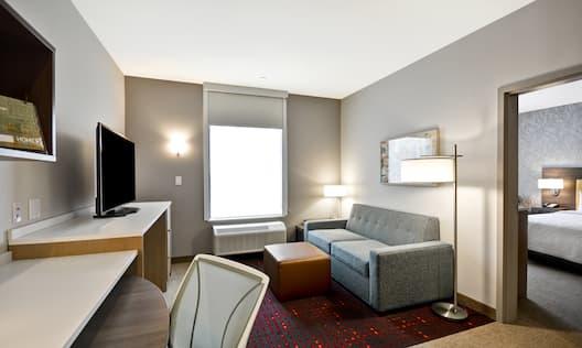One Bedroom King Suite Living Room
