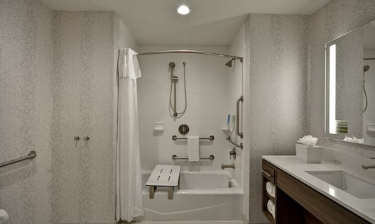 Accessible Bathroom with Tub and Shower Combo