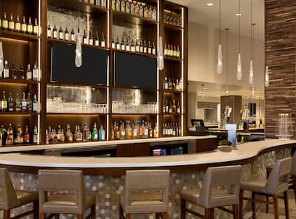 Hotel Bar Area with Soft Seats Around it