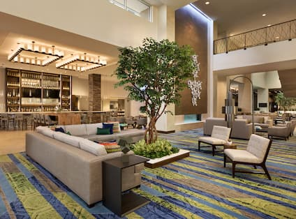 Atrium Seating Area with a Tree
