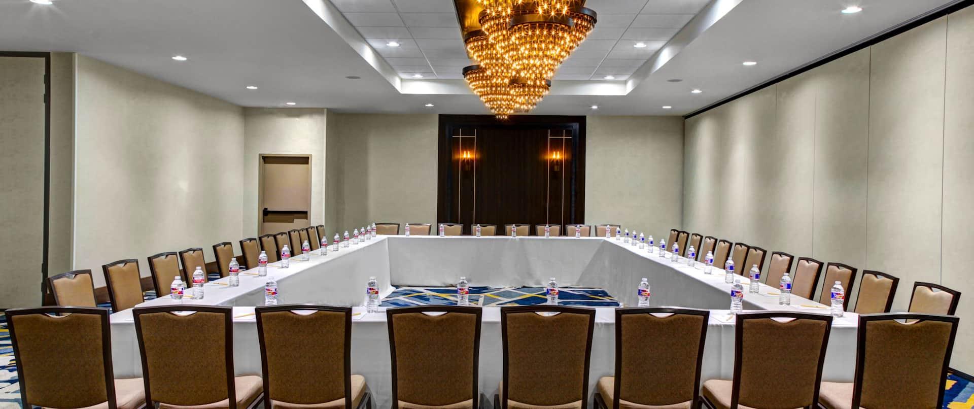 Ballroom Square Table Setup