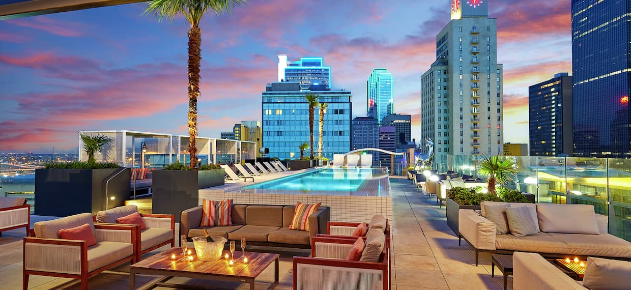 Rooftop Patio Seating and Pool