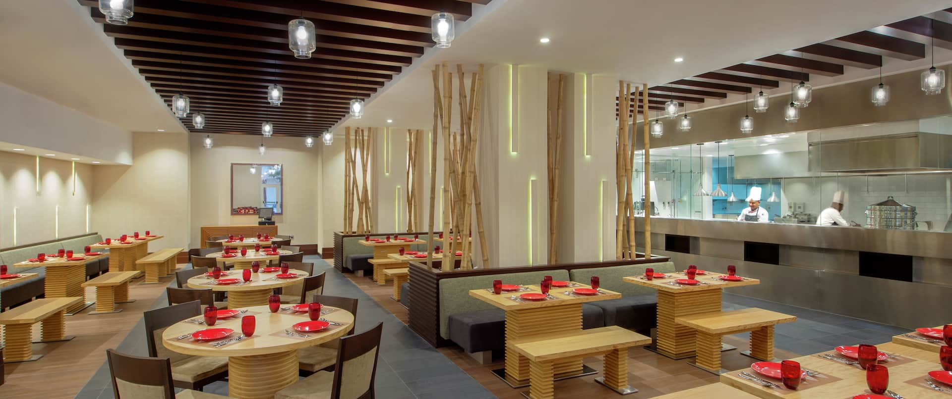 Indo Chin restaurant,  indian chinese restaurant with show cooking kitchen