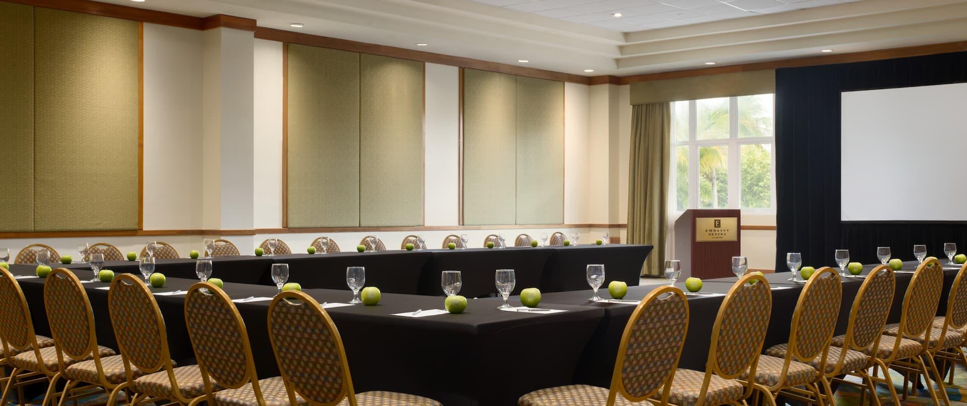 Ballroom Area with U-Shape Table Layout