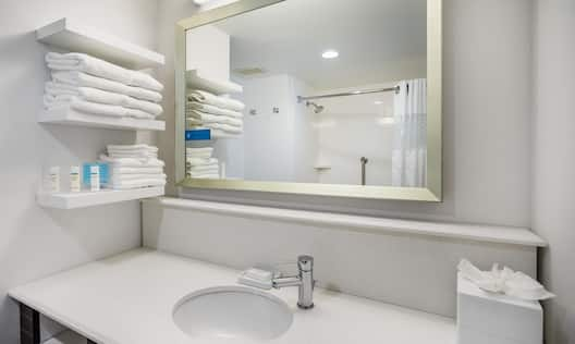 Standard Bathroom Sink And Vanity Mirror