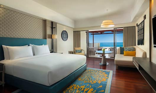 Ocean View Suite with One King Bed and seating area