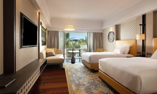 Newly Refurbished Twin Cliff Tower Pool View Room