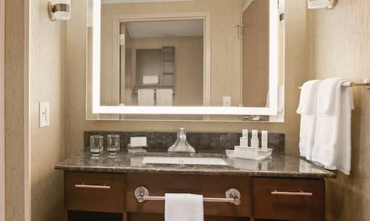 Guest Bathroom with Vanity and Amenities
