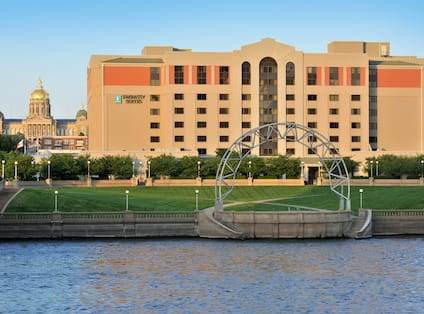 Hotel Exterior from Des Moines River