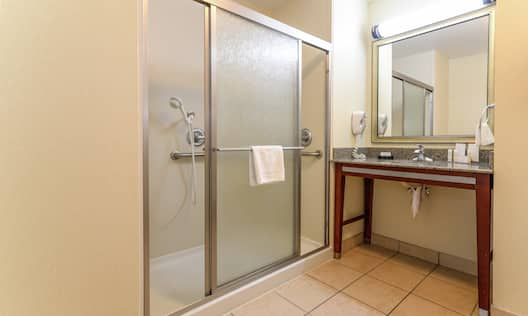 Hospitality Suite Bathroom with Walk-In Shower