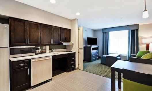 King Suite Kitchen Area