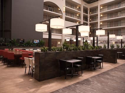 Lobby Seating and Dining Area