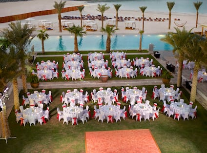 Gala Dinner set up in our garden