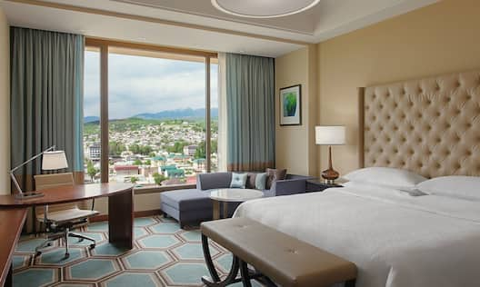 King Executive Room with Twin Bedroom with Work Desk, Seating Area and City Views
