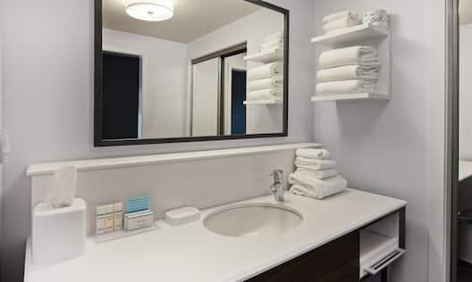 Standard Bathroom Vanity and Amenities