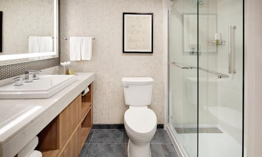 Guest Bathroom with Vanity and Shower