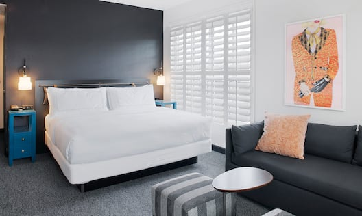 Guest Room with Large Bed and Sofa
