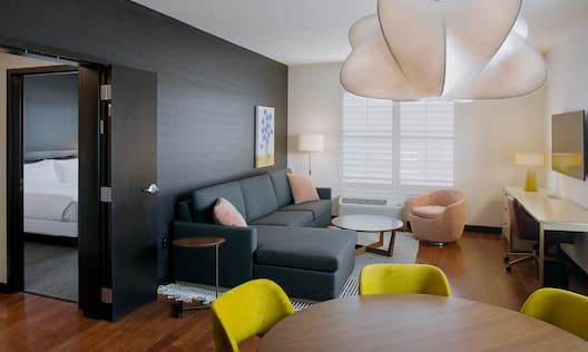 Suite Living Area and View of Separate Bedroom