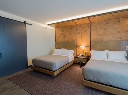 Two Beds in a Hotel Guest Room