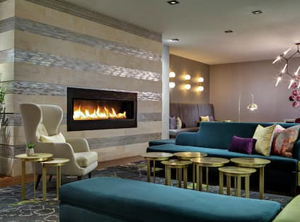 Additional Lobby Seating with Fireplace