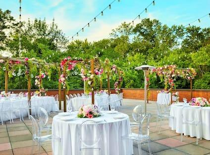 Wedding Reception on Balcony