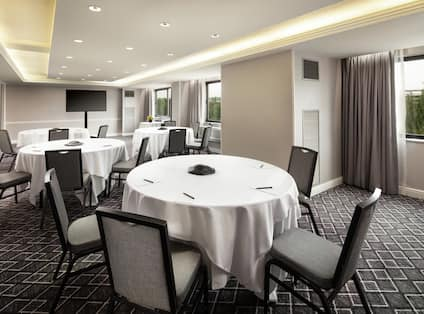 Meeting Room with Banquet Tables