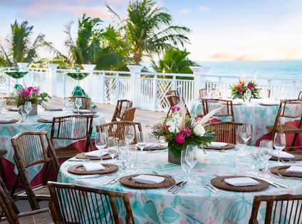 Dinner at Sunset on the Terrace