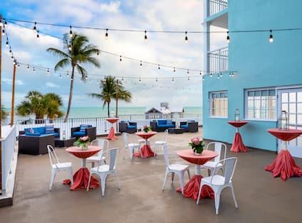 Wedding Cocktail Reception at Caribe Ballroom Terrace