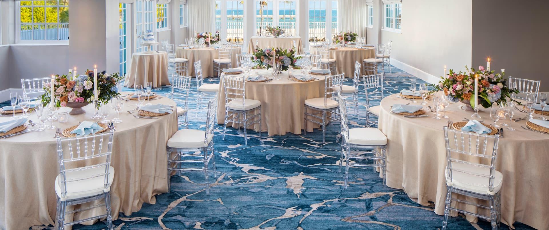 Caribe Ballroom Setup for a Wedding Reception
