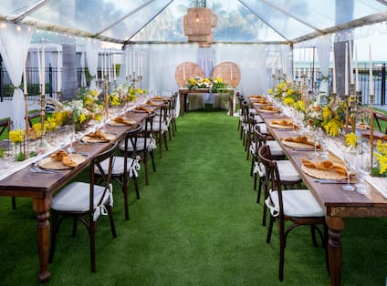 Palms Lawn Setup for a Special Event