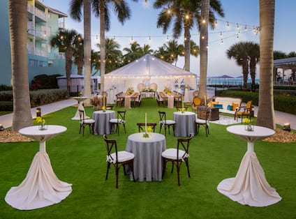 Wedding Event Celebrated at Palms Lawn with Tent