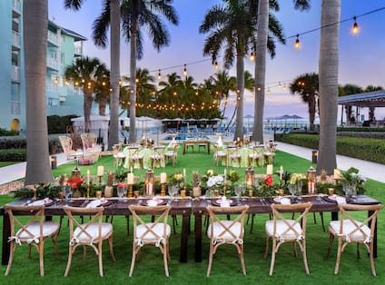 Wedding Reception Celebrated at Palms Lawn