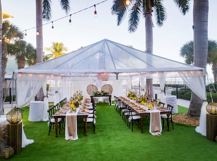 Event Celebrated at Palms Lawn with Tent
