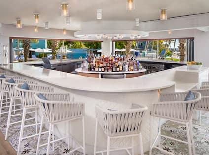 Four Marlins Bar Area