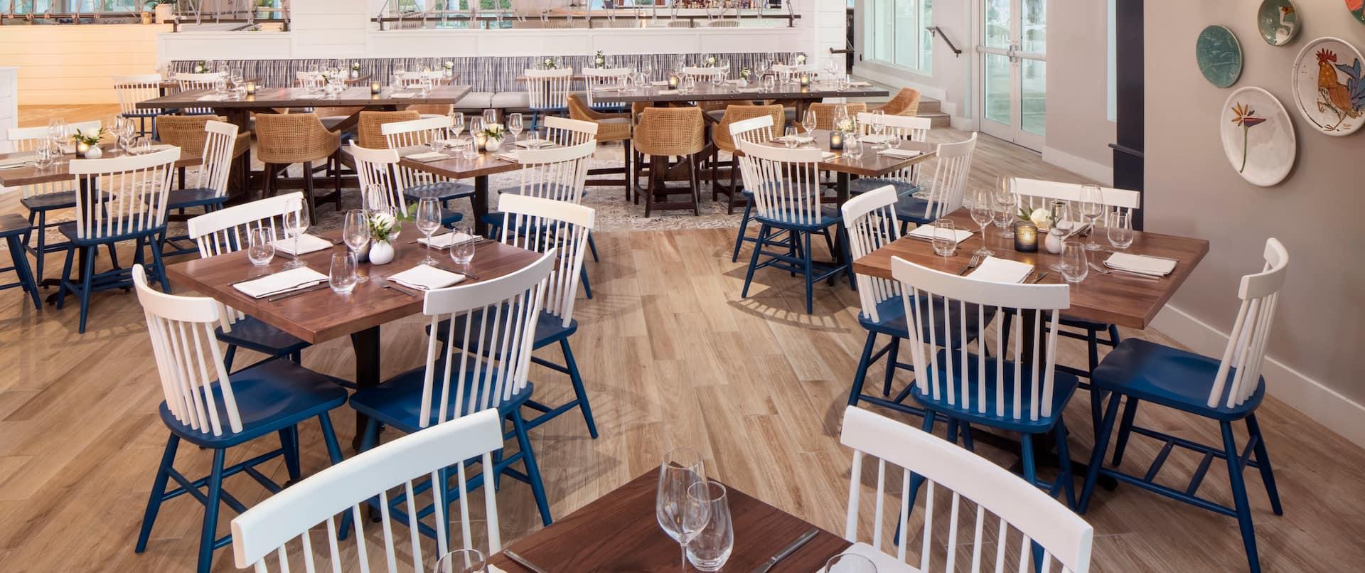 Four Marlins Restaurant Dining Area