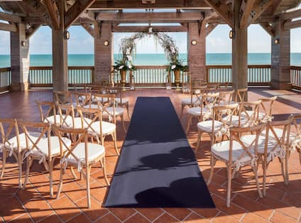 Wedding Ceremony at the Overseas Gazebo by the Beach