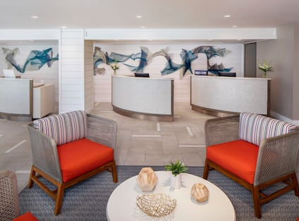 Reception Desk and Seating Area in Lobby