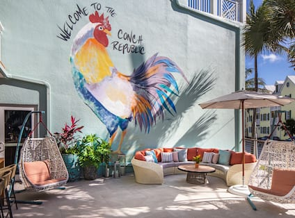 Rooster Patio Seating ARea