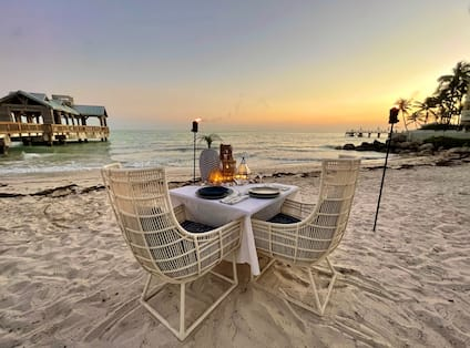 Table Setup for Dinner at the Beach