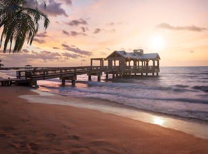 Resort Gazebo at Sunset