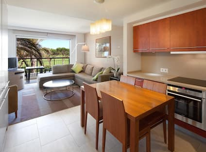 One Bedroom Apartment Golf View Living Area