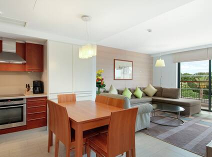 Two Bedroom Suite Living/Kitchen Area