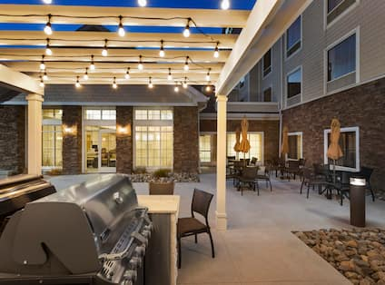 Patio with BBQ Grills
