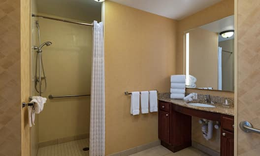 Accessible Suite Bathroom With Roll-in Shower